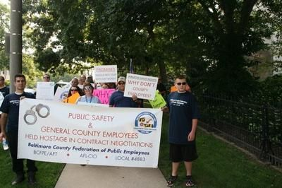 BCFPE members demonsrate for county workers' rights