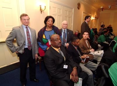President Perry prepares to testify in Annapolis