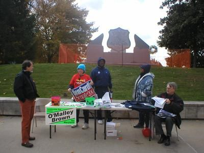 BCFPE members brave the cold to encourage voter turnout